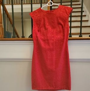 Red work/party dress